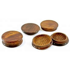 2ct 100mm Wood 2pc Tobacco Grinder