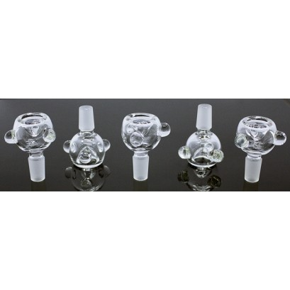 10ct 14mm Clear Glass On Glass Bowl