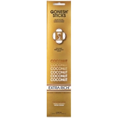 12ct Gonesh Extra Rich Stick Incense Coconut