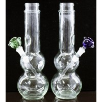 "6ct 12"" Binger Springs Double Bubble Clear Water Pipe"