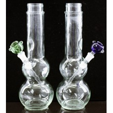 "12"" Binger Springs Double Bubble Clear Water Pipe"