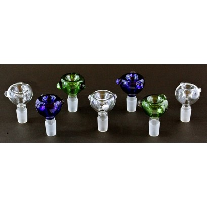 """10ct 3"""" 19mm Glass On Glass Marble Bowl Assortment"""