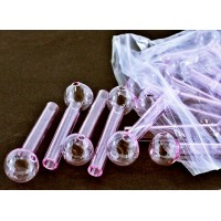 "40ct 4"" 12mm Pink Glass Oil Burner"
