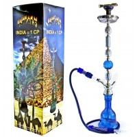 "43"" Inhale India 1CP Hookah Blue"