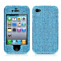 Blue Rhinestone Diamond Case for iPhone 4/4s