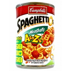 Cambell Spagettios Meatballs Safe Can