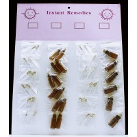 24ct Instant Remedies Corked Vials Amber And Cl