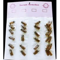 24ct Instant Remedies Corked Vials Amber
