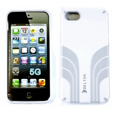 Delton iPhone 5 Two Tone Case White/Grey