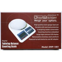 DigiWeigh 1000G x 0.1G Tabletop Scale DWP-1001