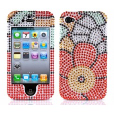 Flower Power Diamond Case for iPhone 4/4s