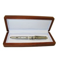 Fancy Fountain Pen With Wood Box