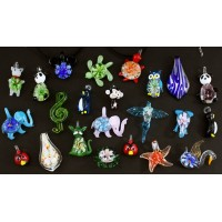 12ct Glass Animal Pendent Necklace Assortment