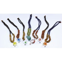 10ct Glass Peanut Hemp Necklace Assortment