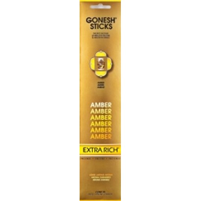 12ct Gonesh Extra Rich Stick Incense Amber