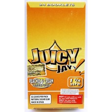 Juicy Jays Rolling Paper - 1 1/4 Peaches And Cream