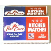 Fire Chief Kitchen Matches - Case