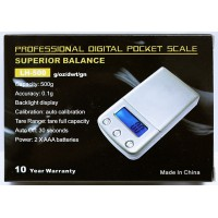Superior Balance 500G x 0.1G Pocket Scale LH-500