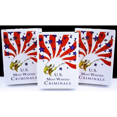 6ct US Most Wanted Criminals Playing Cards