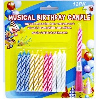 12ct Musical Birthday Candle