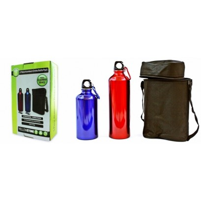 Aluminum Bottle Set With Carrying Bag