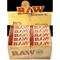 RAW Rolling Paper Tips - Original 50pk