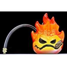"6"" Twisted Ceramic 1H Fireball Cigar Water Pipe"