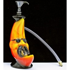 "7"" Twisted Ceramic 1H Moon Man Water Pipe"