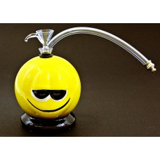 "5"" Twisted Ceramic Smiley 1H Water Pipe"