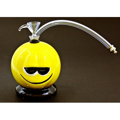 """5"""" Twisted Ceramic Smiley 1H Water Pipe"""