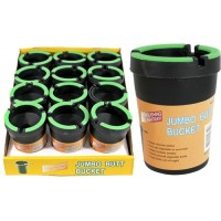 Butt Bucket Cup Holder Ashtray - Black with Glow In The Dark 12pk
