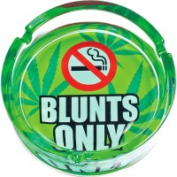 """6.25"""" Blunts Only - Large Glass Ashtray"""