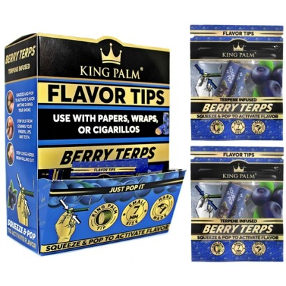 King Palm 7mm Flavor Tips - Berry Terps 50pk