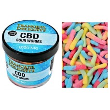 Tranquil Delights 1000mg CBD - Sour Worms