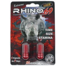 Rhino 69 Extreme 100K Double Pack Male Enhancement Capsules