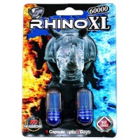 Rhino XL 60000 Double Pack Male Enhancement Capsules