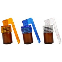 10ct Bottle And Spoon Snuff Bullet - Small AMBER