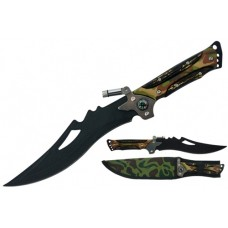 Hunting Knife with LED Light and Compass
