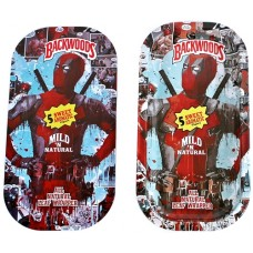 Backwoods Rolling Tray With Magnet Cover - Deadpool Posing