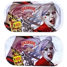 Backwoods Rolling Tray With Magnet Cover - Harley Quinn