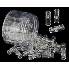 12mm Glass Tips 2 Pokes 60pk with Display Jar