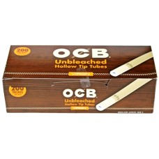 OCB Unbleached Hollow Tip Tubes - 200ct
