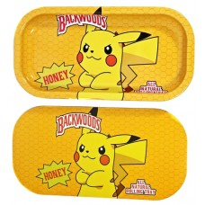 Backwoods Rolling Tray With Magnet Cover - Stubborn Pikachu