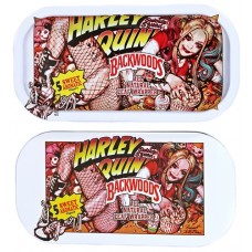 Backwoods Rolling Tray With Magnet Cover - Harley Quinn Munchies