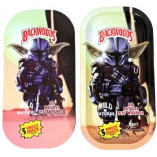 Backwoods Rolling Tray With Magnet Cover - Baby Yoda in Armor