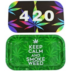 Keep Calm 420 Rolling Tray With Magnet Lid