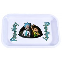 Metal Rolling Tray - Rick And Morty - White