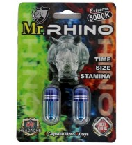 Mr Rhino Extreme 5000K Double Pack Male Enhancement Capsules
