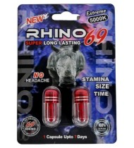Rhino 69 Extreme 5000K Double Pack Male Enhancement Capsules