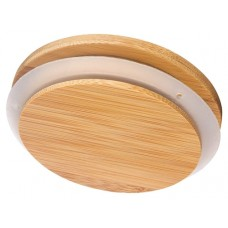 100ct Bamboo Lids for 10oz and 18oz Glass Jars - 100mm